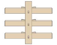 柱と貫(平行)くさびと込み栓